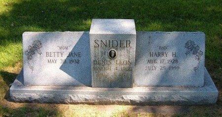 SNIDER, DENIS LEON - Prowers County, Colorado | DENIS LEON SNIDER - Colorado Gravestone Photos