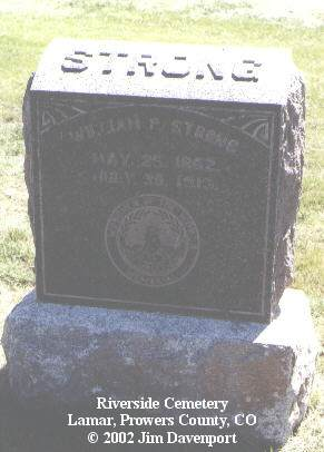 STRONG, WILLIAM P. - Prowers County, Colorado | WILLIAM P. STRONG - Colorado Gravestone Photos