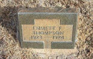 THOMPSON, EMMETT F - Prowers County, Colorado   EMMETT F THOMPSON - Colorado Gravestone Photos