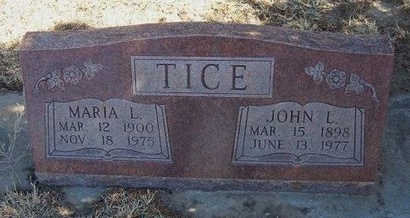 TICE, JOHN L - Prowers County, Colorado | JOHN L TICE - Colorado Gravestone Photos