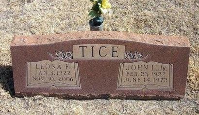 TICE, LEONA F - Prowers County, Colorado | LEONA F TICE - Colorado Gravestone Photos