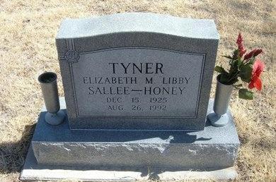 TYNER, ELIZABETH M SALLEE HONEY - Prowers County, Colorado | ELIZABETH M SALLEE HONEY TYNER - Colorado Gravestone Photos