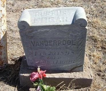VANDERPOOL, RUFFUS EDGAR - Prowers County, Colorado   RUFFUS EDGAR VANDERPOOL - Colorado Gravestone Photos