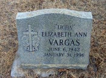 "VARGAS, ELIZABETH ANN ""LICHA"" - Prowers County, Colorado | ELIZABETH ANN ""LICHA"" VARGAS - Colorado Gravestone Photos"