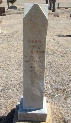 WILSON, HANNAH - Prowers County, Colorado   HANNAH WILSON - Colorado Gravestone Photos