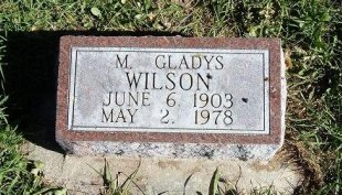 WILSON, M GLADYS - Prowers County, Colorado | M GLADYS WILSON - Colorado Gravestone Photos