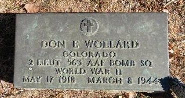 WOLLARD (VETERAN WWII), DON E - Prowers County, Colorado | DON E WOLLARD (VETERAN WWII) - Colorado Gravestone Photos