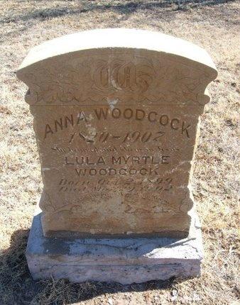 WOODCOCK, ANNA - Prowers County, Colorado | ANNA WOODCOCK - Colorado Gravestone Photos