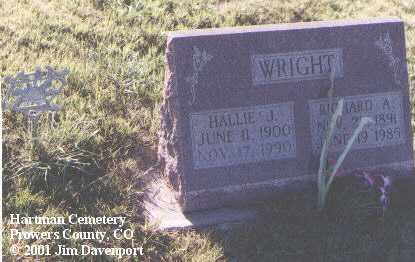 WRIGHT, RICHARD A. - Prowers County, Colorado | RICHARD A. WRIGHT - Colorado Gravestone Photos