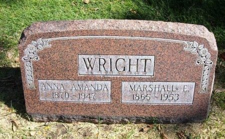 LEWIS WRIGHT, ANNA AMANDA - Prowers County, Colorado | ANNA AMANDA LEWIS WRIGHT - Colorado Gravestone Photos