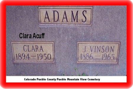ACUFF, CLARA - Pueblo County, Colorado | CLARA ACUFF - Colorado Gravestone Photos