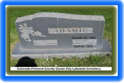 ADAMIC, FRANK J - Pueblo County, Colorado   FRANK J ADAMIC - Colorado Gravestone Photos