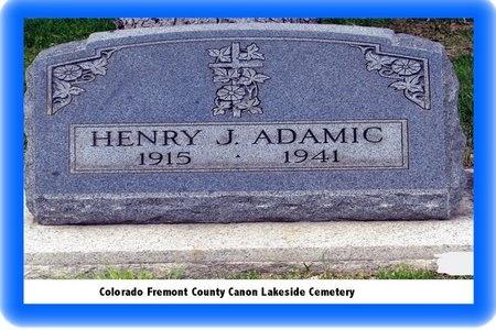 ADAMIC, HENRY - Pueblo County, Colorado   HENRY ADAMIC - Colorado Gravestone Photos