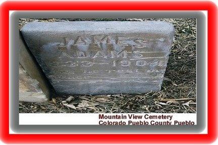 ADAMS, M  JAMES - Pueblo County, Colorado | M  JAMES ADAMS - Colorado Gravestone Photos