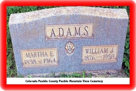 ADAMS, WILLIAM JESSE - Pueblo County, Colorado | WILLIAM JESSE ADAMS - Colorado Gravestone Photos