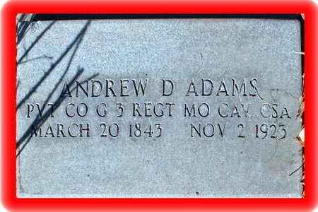 ADAMS, ANDREW DOW - Pueblo County, Colorado | ANDREW DOW ADAMS - Colorado Gravestone Photos