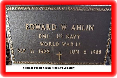 AHLIN, EDWARD - Pueblo County, Colorado | EDWARD AHLIN - Colorado Gravestone Photos