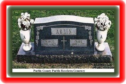 AHLIN, FRANK - Pueblo County, Colorado   FRANK AHLIN - Colorado Gravestone Photos