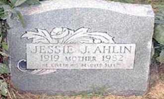 AHLIN, JESSIE J. - Pueblo County, Colorado   JESSIE J. AHLIN - Colorado Gravestone Photos
