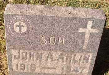 AHLIN, JOHN A. - Pueblo County, Colorado | JOHN A. AHLIN - Colorado Gravestone Photos