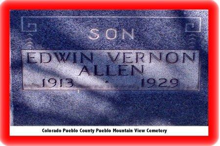 ALLEN, EDWIN VERNON - Pueblo County, Colorado | EDWIN VERNON ALLEN - Colorado Gravestone Photos