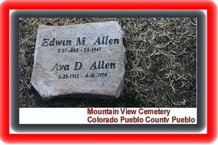 ALLEN, EDWIN MARTIN - Pueblo County, Colorado   EDWIN MARTIN ALLEN - Colorado Gravestone Photos
