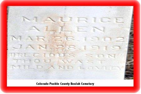 ALLEN, MAURICE - Pueblo County, Colorado | MAURICE ALLEN - Colorado Gravestone Photos