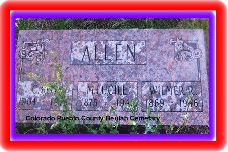 ALLEN, WILMER R - Pueblo County, Colorado | WILMER R ALLEN - Colorado Gravestone Photos