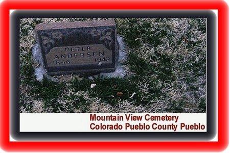PETERSEN ANDERSEN, NILS PEDER - Pueblo County, Colorado | NILS PEDER PETERSEN ANDERSEN - Colorado Gravestone Photos