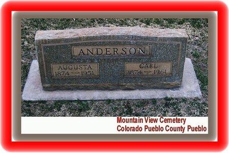 ANDERSON, CARL - Pueblo County, Colorado   CARL ANDERSON - Colorado Gravestone Photos