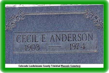 ANDERSON, CECIL E - Pueblo County, Colorado | CECIL E ANDERSON - Colorado Gravestone Photos