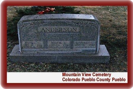 ANDERSON, CHARLES GUSTAV - Pueblo County, Colorado | CHARLES GUSTAV ANDERSON - Colorado Gravestone Photos