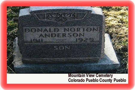 NORTON ANDERSON, DONALD - Pueblo County, Colorado | DONALD NORTON ANDERSON - Colorado Gravestone Photos