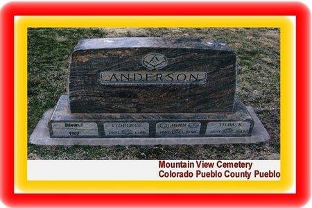 ANDERSON, EDWIN J - Pueblo County, Colorado | EDWIN J ANDERSON - Colorado Gravestone Photos