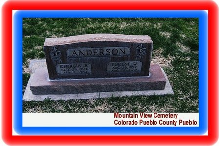 ANDERSON, EUGENE W - Pueblo County, Colorado | EUGENE W ANDERSON - Colorado Gravestone Photos