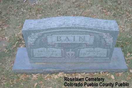 BAIN, DON F. - Pueblo County, Colorado | DON F. BAIN - Colorado Gravestone Photos