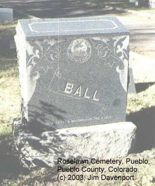 BALL, HORACE - Pueblo County, Colorado | HORACE BALL - Colorado Gravestone Photos