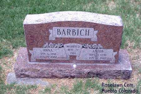 BARBICJ, ANNA - Pueblo County, Colorado   ANNA BARBICJ - Colorado Gravestone Photos