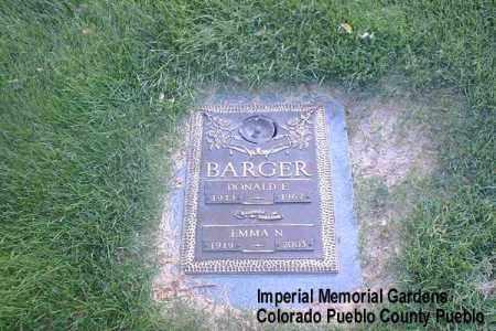 BARGER, EMMA N. - Pueblo County, Colorado | EMMA N. BARGER - Colorado Gravestone Photos
