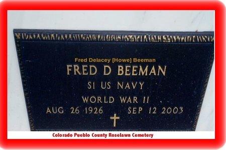 BEEMAN, FRED DELACEY - Pueblo County, Colorado | FRED DELACEY BEEMAN - Colorado Gravestone Photos