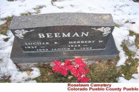 BEEMAN, JANICE L. - Pueblo County, Colorado | JANICE L. BEEMAN - Colorado Gravestone Photos