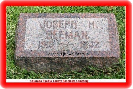 BEEMAN, JOSEPH H - Pueblo County, Colorado | JOSEPH H BEEMAN - Colorado Gravestone Photos