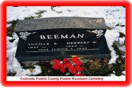 BEEMAN, JANICE LUCILLIE - Pueblo County, Colorado   JANICE LUCILLIE BEEMAN - Colorado Gravestone Photos
