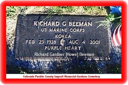 HOWE BEEMAN, RICHARD GARDNER - Pueblo County, Colorado | RICHARD GARDNER HOWE BEEMAN - Colorado Gravestone Photos