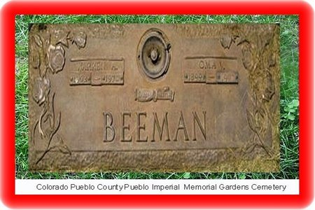 BEEMAN, WARREN A - Pueblo County, Colorado | WARREN A BEEMAN - Colorado Gravestone Photos