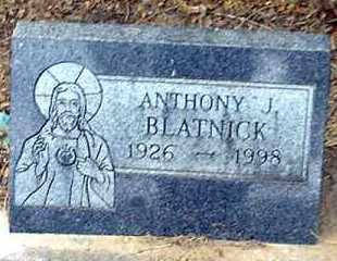BLATNICK, ANTHONY J - Pueblo County, Colorado   ANTHONY J BLATNICK - Colorado Gravestone Photos