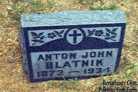 BLATNIK, ANTON JOHN - Pueblo County, Colorado   ANTON JOHN BLATNIK - Colorado Gravestone Photos