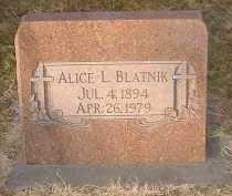 BLATNIK, ALICE L.. - Pueblo County, Colorado | ALICE L.. BLATNIK - Colorado Gravestone Photos
