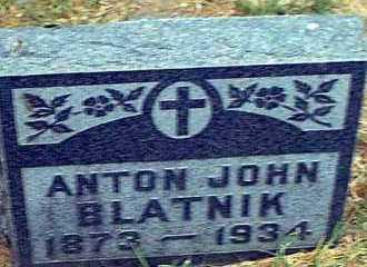 BLATNIK, ANTON JOHN - Pueblo County, Colorado | ANTON JOHN BLATNIK - Colorado Gravestone Photos