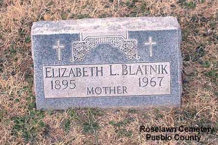 BLATNIK, ELIZABETH L.. - Pueblo County, Colorado | ELIZABETH L.. BLATNIK - Colorado Gravestone Photos
